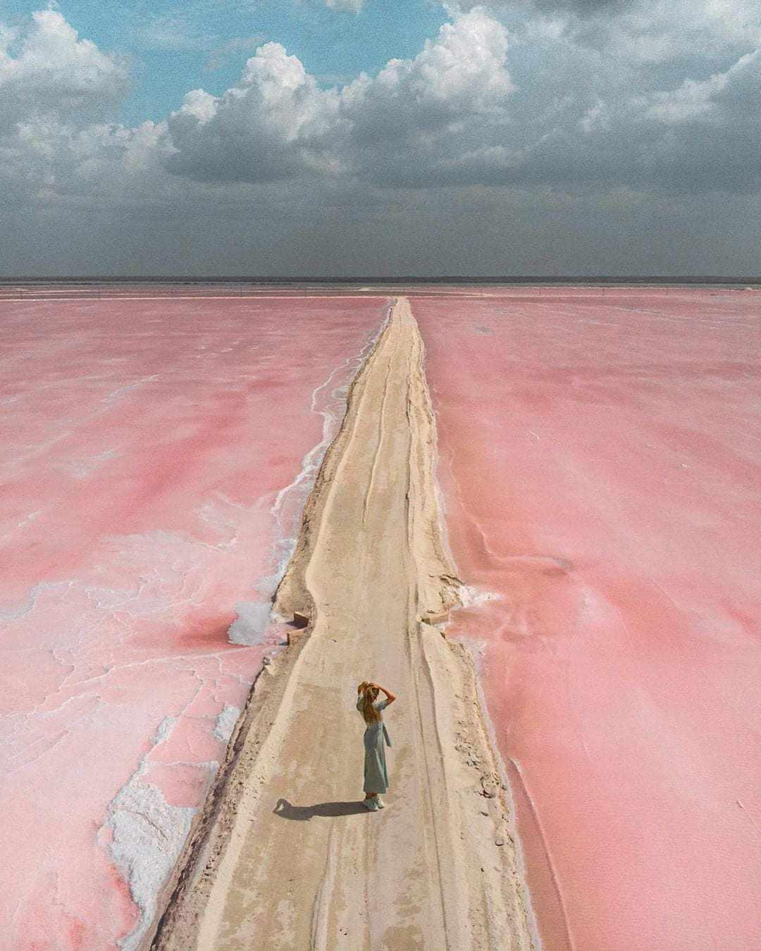 El Lago Rosa de las Coloradas, Yucatán