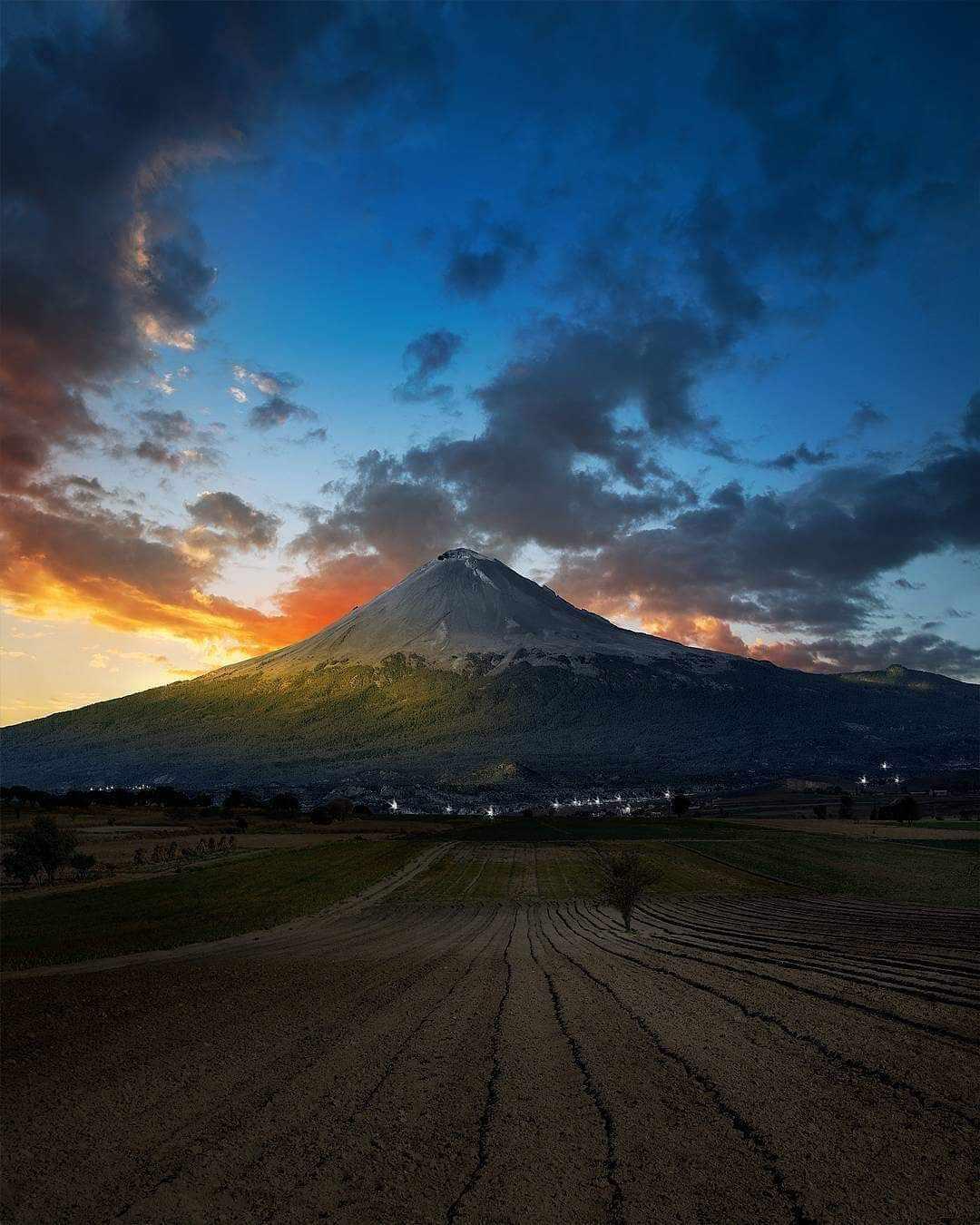 Volcán Popocatépetl Puebla, México. 🇲🇽